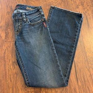Silver women's jeans.